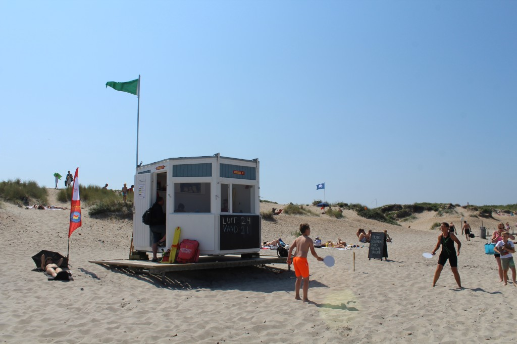 Liseleje Beach. View to safety guard station: Photo 3. june 2018 by Erik K Abrahasem